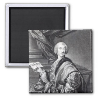 Angelo Maria Monticelli, engraved by John Faber Square Magnet