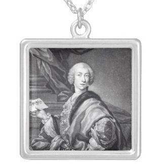 Angelo Maria Monticelli, engraved by John Faber Square Pendant Necklace