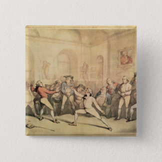 Angelo's Fencing Room, pub. 1787 15 Cm Square Badge