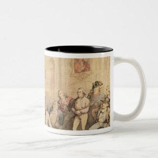 Angelo's Fencing Room, pub. 1787 Two-Tone Coffee Mug