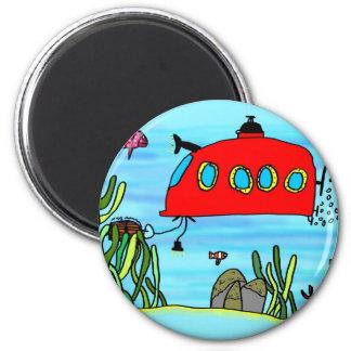 Angelos underwater treasure search 6 cm round magnet