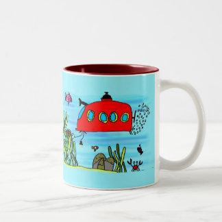 Angelos underwater treasure search coffee mugs