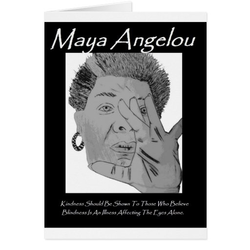 Angelou Quote Greetings Card