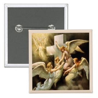 Angels 15 Cm Square Badge