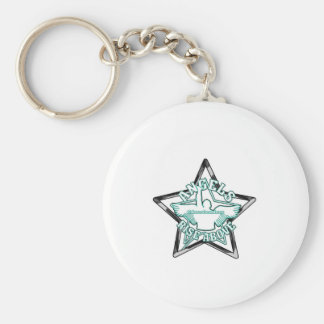 Angels cheerleaders basic round button key ring