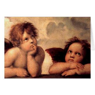 Angels Cherubs Greeting Card