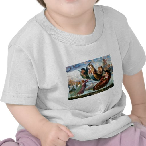 Angels Christianity Religion Painting T Shirt
