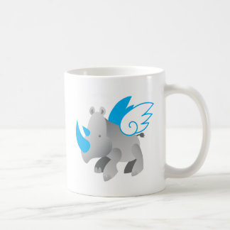 Angels come in all sizes RHINO Basic White Mug