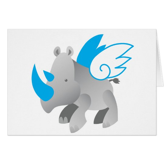 Angels come in all sizes RHINO Card