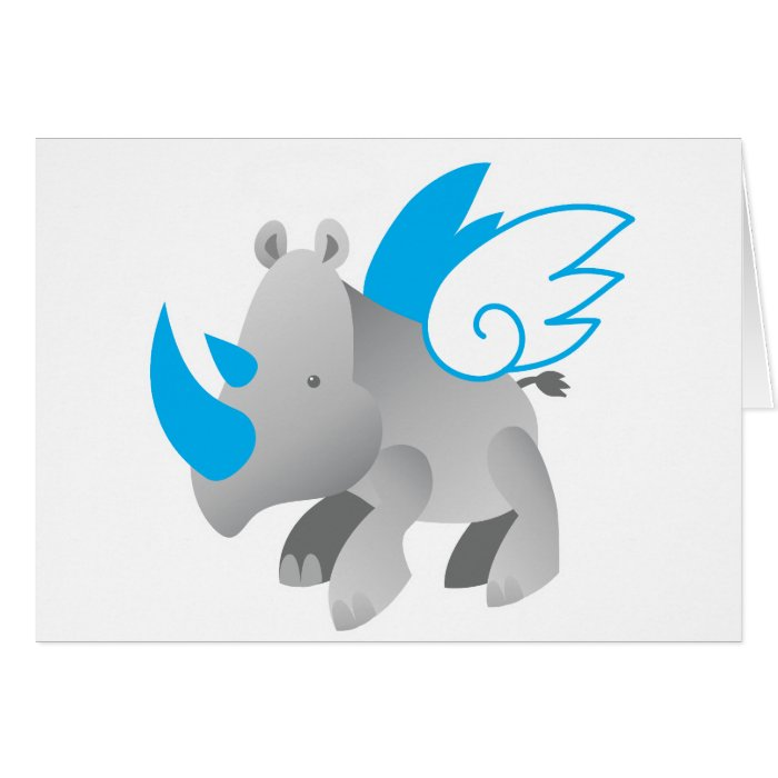Angels come in all sizes RHINO Greeting Card