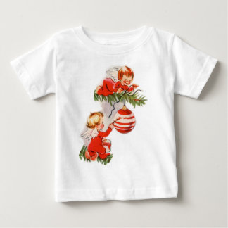 Angels Decorating the Christmas Tree Baby T-Shirt