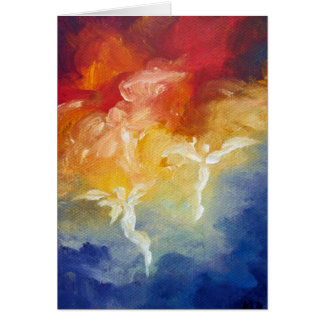 """Angel's Descent"" Fine Art Greeting Card"