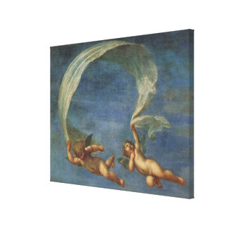 Angels Detail from Adonis Led by Cupids by Albani Canvas Print