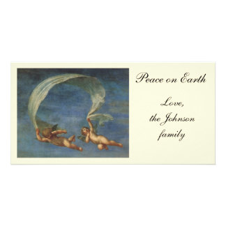 Angels Detail from Adonis Led by Cupids by Albani Picture Card