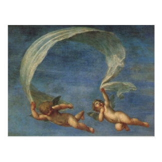 Angels Detail from Adonis Led by Cupids by Albani Postcard