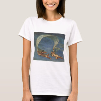 Angels Detail from Adonis Led by Cupids by Albani T-Shirt
