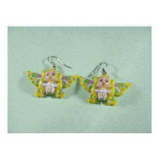 Angels earrings invite