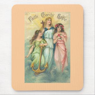 Angels~Faith, Hope & Charity Mousepad