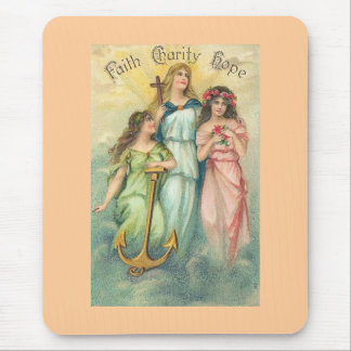 Angels~Faith, Hope & Charity Mousepad