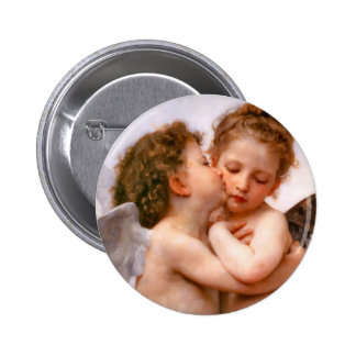 Angels First Kiss, Bouguereau 6 Cm Round Badge