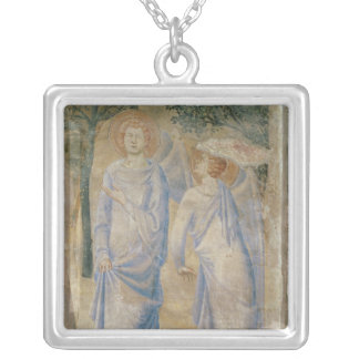 Angels from the Chapel of St. Jean, 1347 Silver Plated Necklace