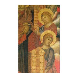 Angels from the Santa Trinita Altarpiece Canvas Print