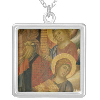 Angels from the Santa Trinita Altarpiece Silver Plated Necklace