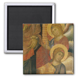 Angels from the Santa Trinita Altarpiece Square Magnet