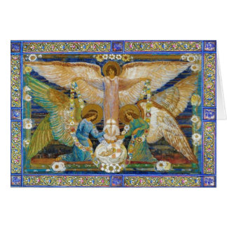 Angels Garlanding The Infant Christ Card