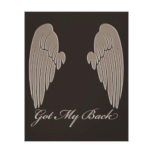 Angels Got My Back Canvas Prints