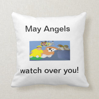 Angels, Grandpa, Kids, and Pets Pillow. Cushion