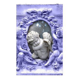 Angels Guarding Cherub, original art Stationery