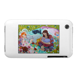 Angels Having A Cup Of Tea. iPhone 3 Case