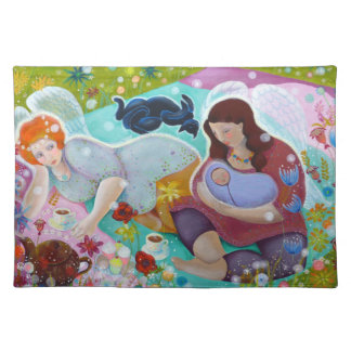 Angels Having A Cup Of Tea. Placemat