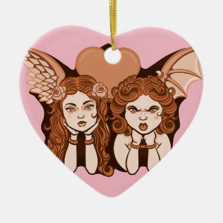 Angels Heart Mood Pendant Christmas Ornament