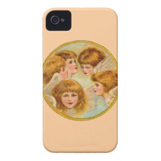 Angels In A Gold Ring Circle iPhone 4 Cover
