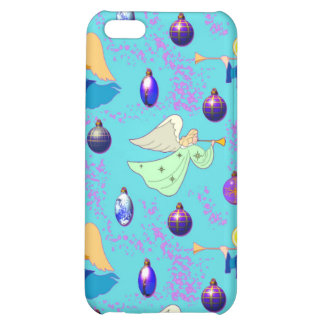 Angels in Blue – Ornaments & Trumpets iPhone 5C Cover
