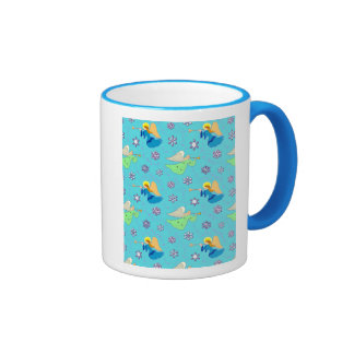 Angels in Blue – Snowflakes & Trumpets Coffee Mugs