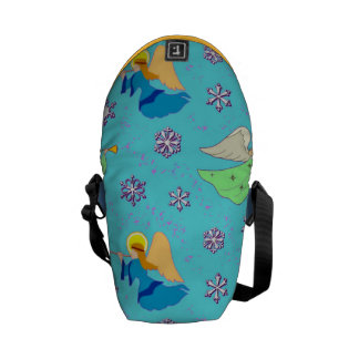 Angels in Blue – Snowflakes & Trumpets Mini Commuter Bag