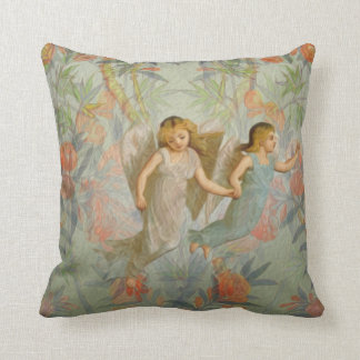 Angels in the Garden Throw Pillows
