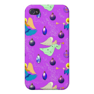 Angels in Violet – Ornaments & Trumpets iPhone 4/4S Cases