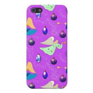 Angels in Violet – Ornaments & Trumpets Case For iPhone 5