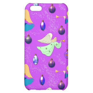 Angels in Violet – Ornaments & Trumpets iPhone 5C Cases
