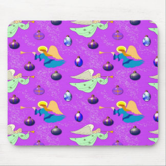 Angels in Violet – Ornaments & Trumpets Mousepads