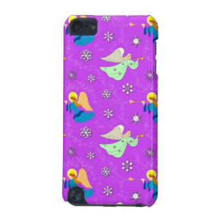 Angels in Violet - Snowflakes & Trumpets iPod Touch 5G Covers