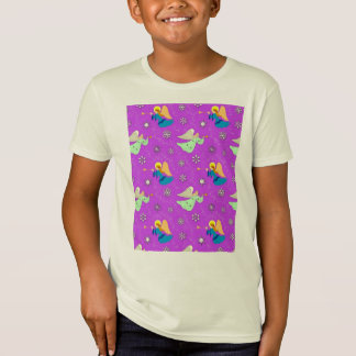 Angels in Violet - Snowflakes & Trumpets Tee Shirt