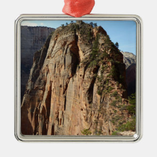Angels Landing at Zion National Park Silver-Colored Square Decoration