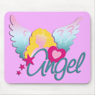 Angels Love | light pink Mouse Pad