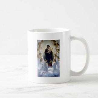 Angels madona baby christian religion clouds basic white mug