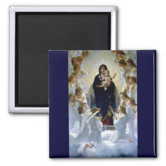 Angels madona baby christian religion clouds refrigerator magnet